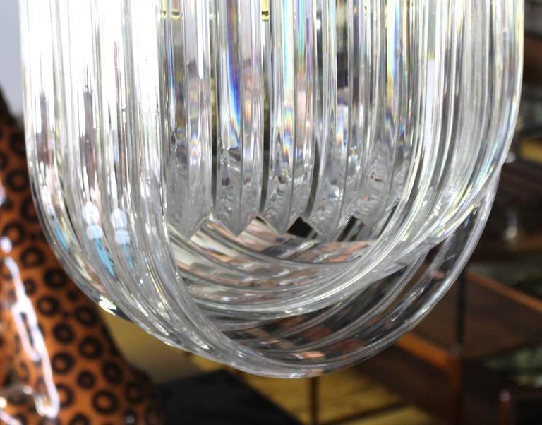 20th Century Bent Lucite Mid-Century Modern Large Light Fixture For Sale