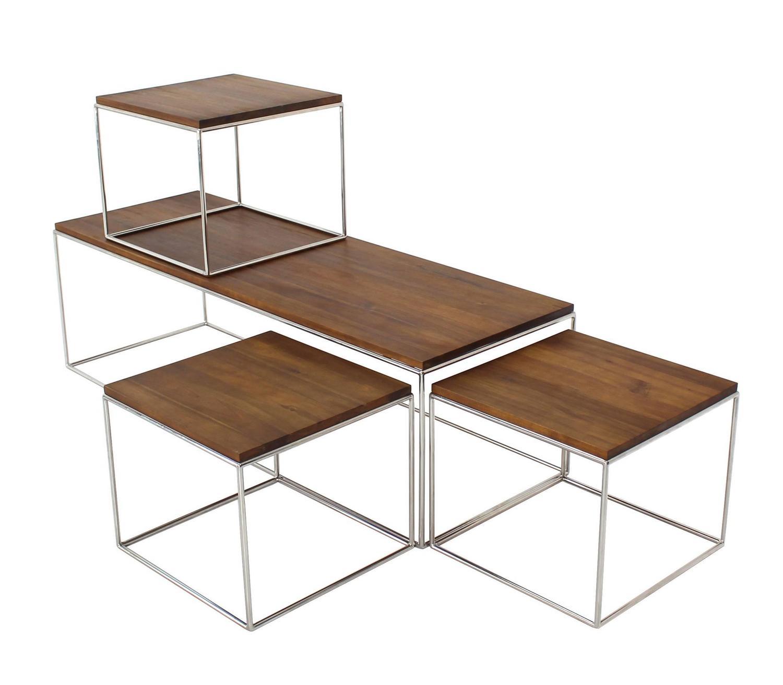Nesting Chrome Box Coffee Table At 1stdibs