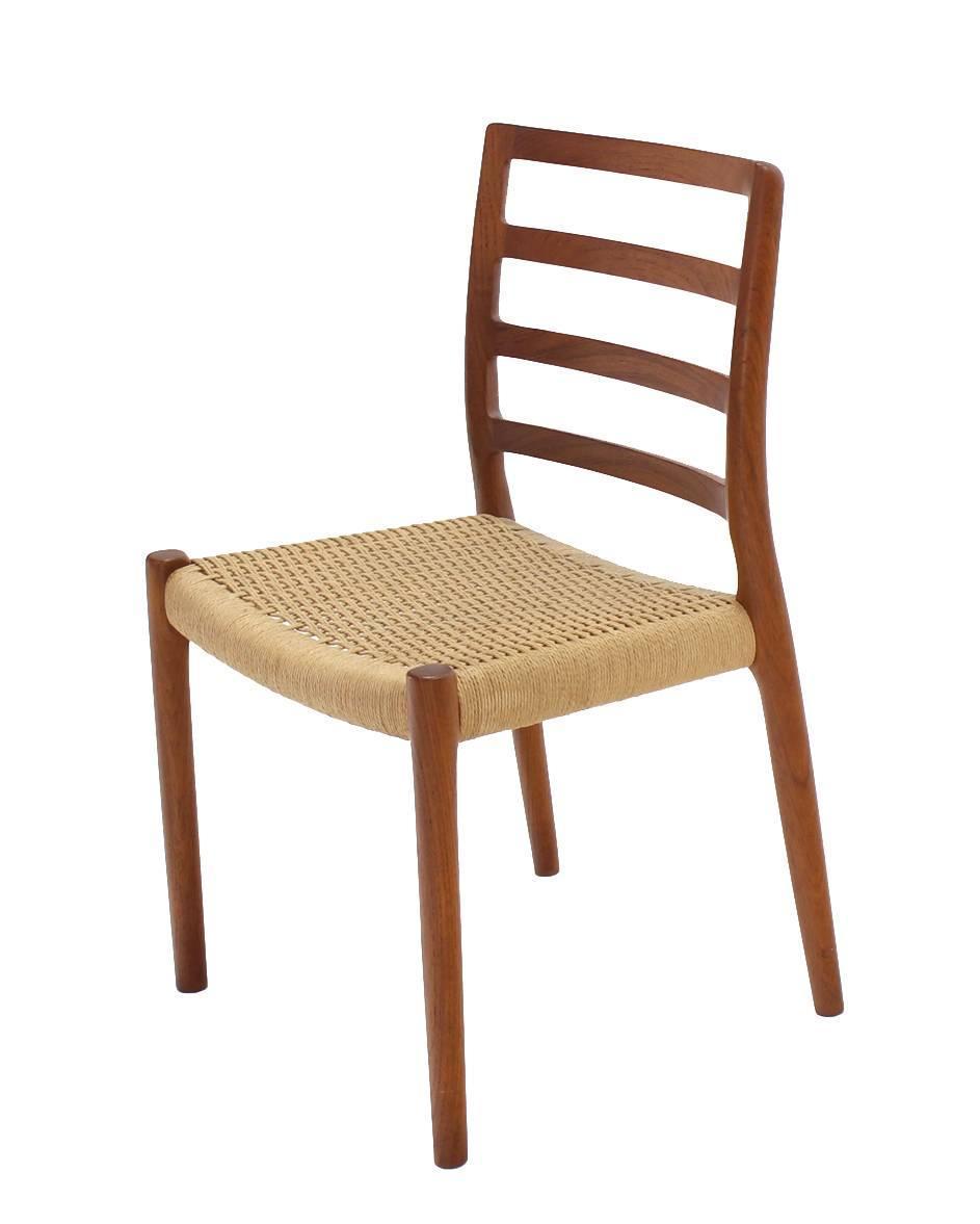Set Of Four Danish Mid Century Modern Teak Dining Chairs