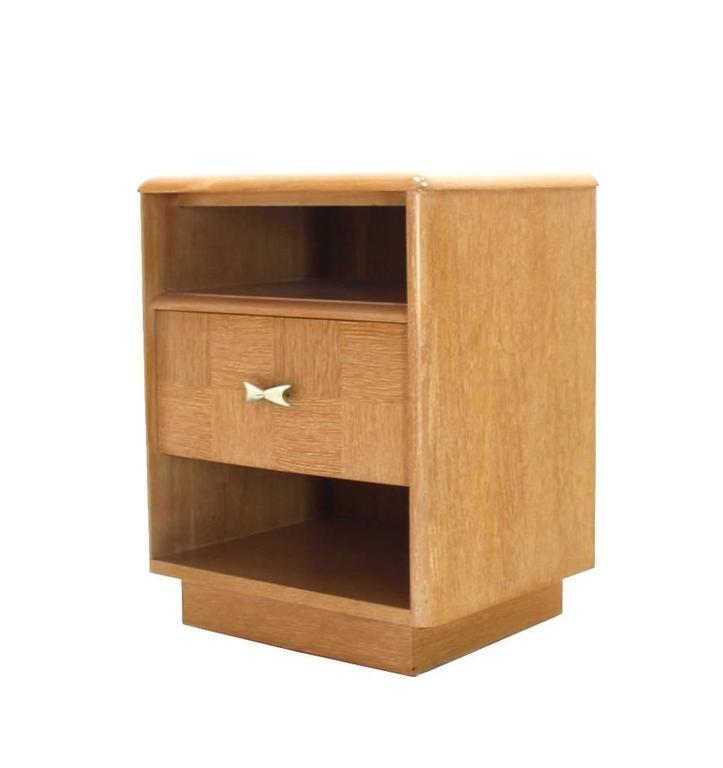 Pair of Cerused Oak Nightstands For Sale 3