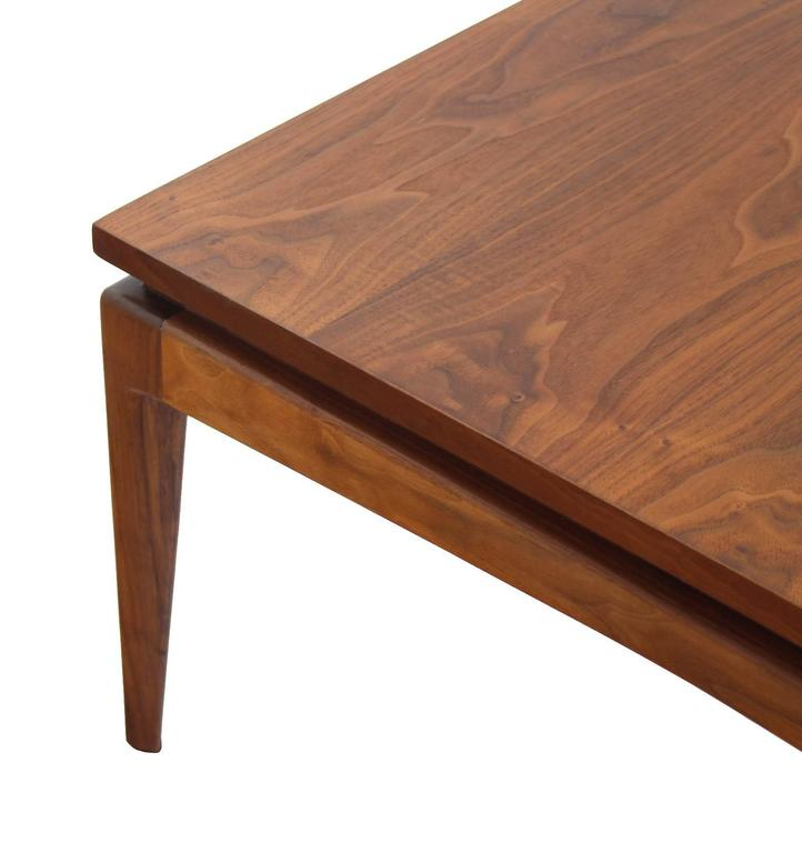 Nice Solid Design Square Walnut Coffee Table For Sale At