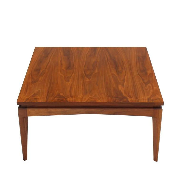 Nice Solid Design Square Walnut Coffee Table For Sale At 1stdibs
