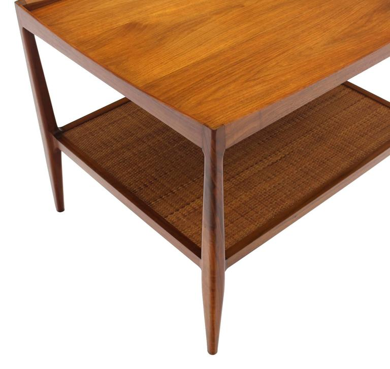 Pair of Rolled Gallery Edge Mid Century Modern Walnut End Tables 6