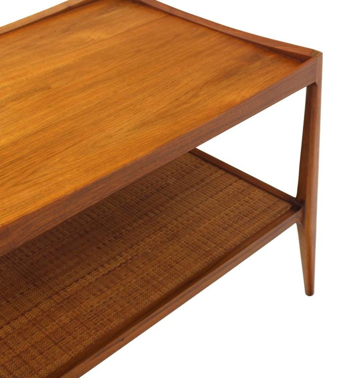 Pair of Rolled Gallery Edge Mid Century Modern Walnut End Tables 7