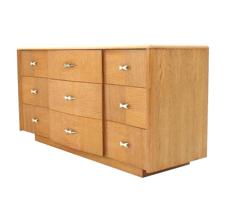 Cerused Oak Mid-Century Modern Long Dresser For Sale at ...