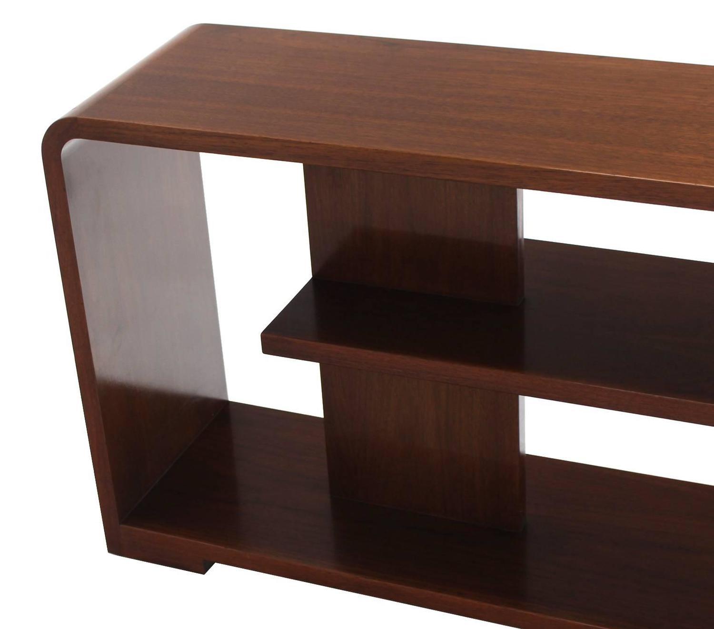 mid century walnut table or desk top shelf at 1stdibs. Black Bedroom Furniture Sets. Home Design Ideas