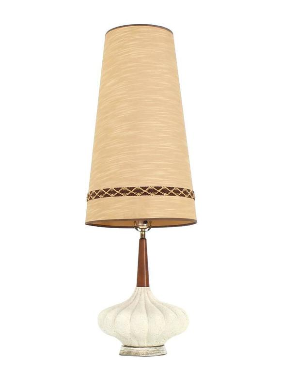 Danish Modern Cone Shape Shade Table Lamp For Sale At 1stdibs
