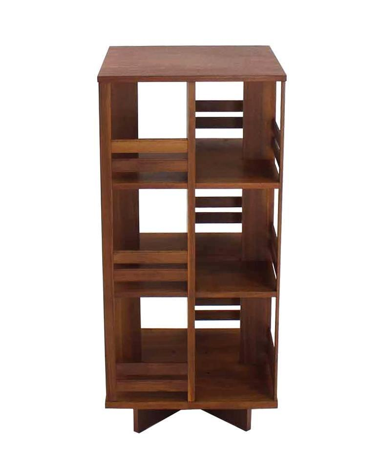 revolving danish mid century modern bookcase for sale at 1stdibs. Black Bedroom Furniture Sets. Home Design Ideas