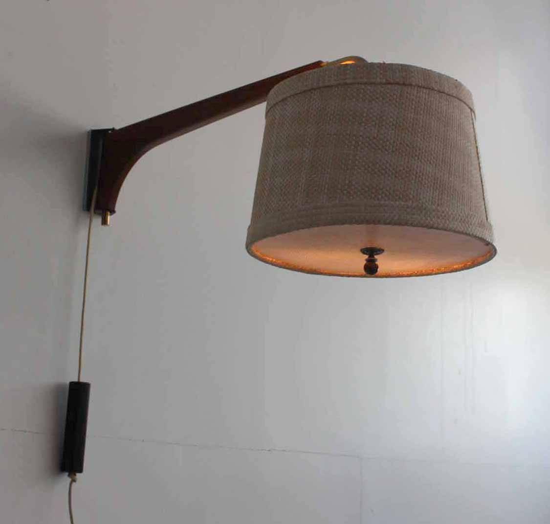 Modern Adjustable Wall Lights : Danish Modern Adjustable Wall Scones For Sale at 1stdibs