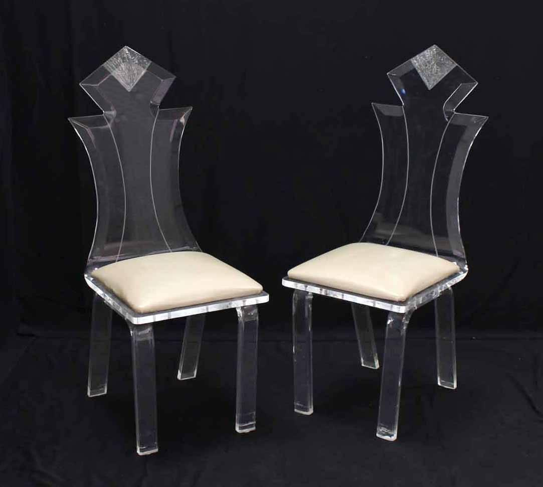 Lucite Four Chairs Table Dinette Set For Sale At 1stdibs