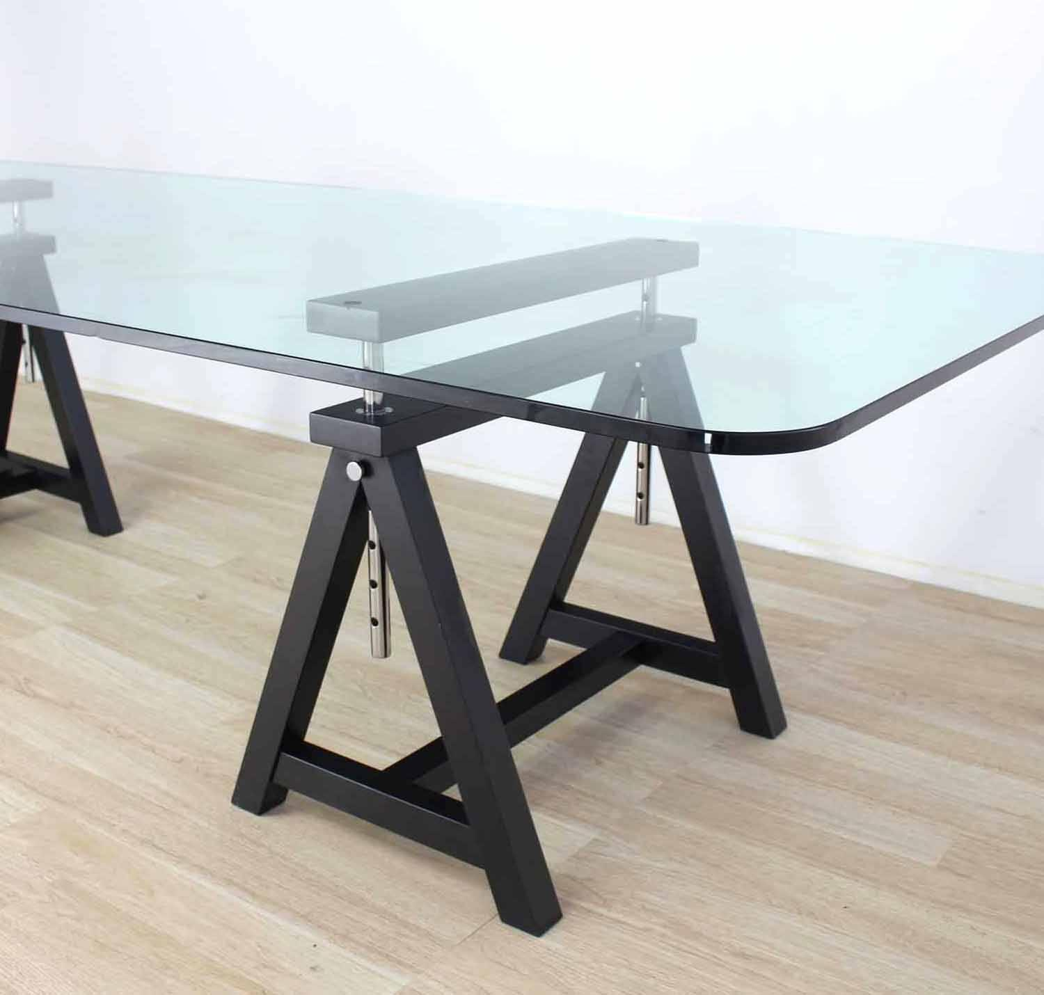 Large glass top conference table for sale at 1stdibs for Large glass table top