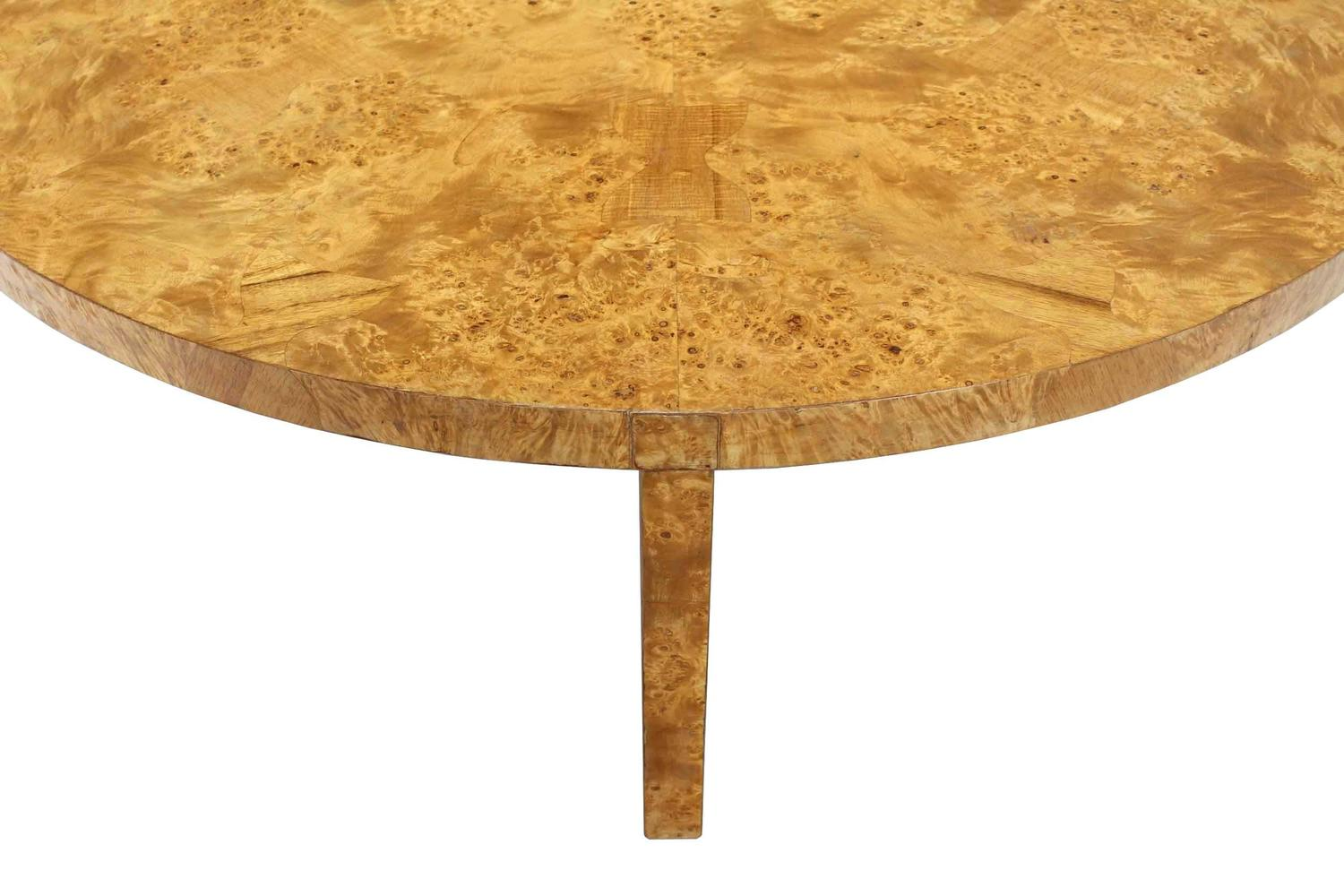 Large Round Burl Wood Coffee Table For Sale At 1stdibs