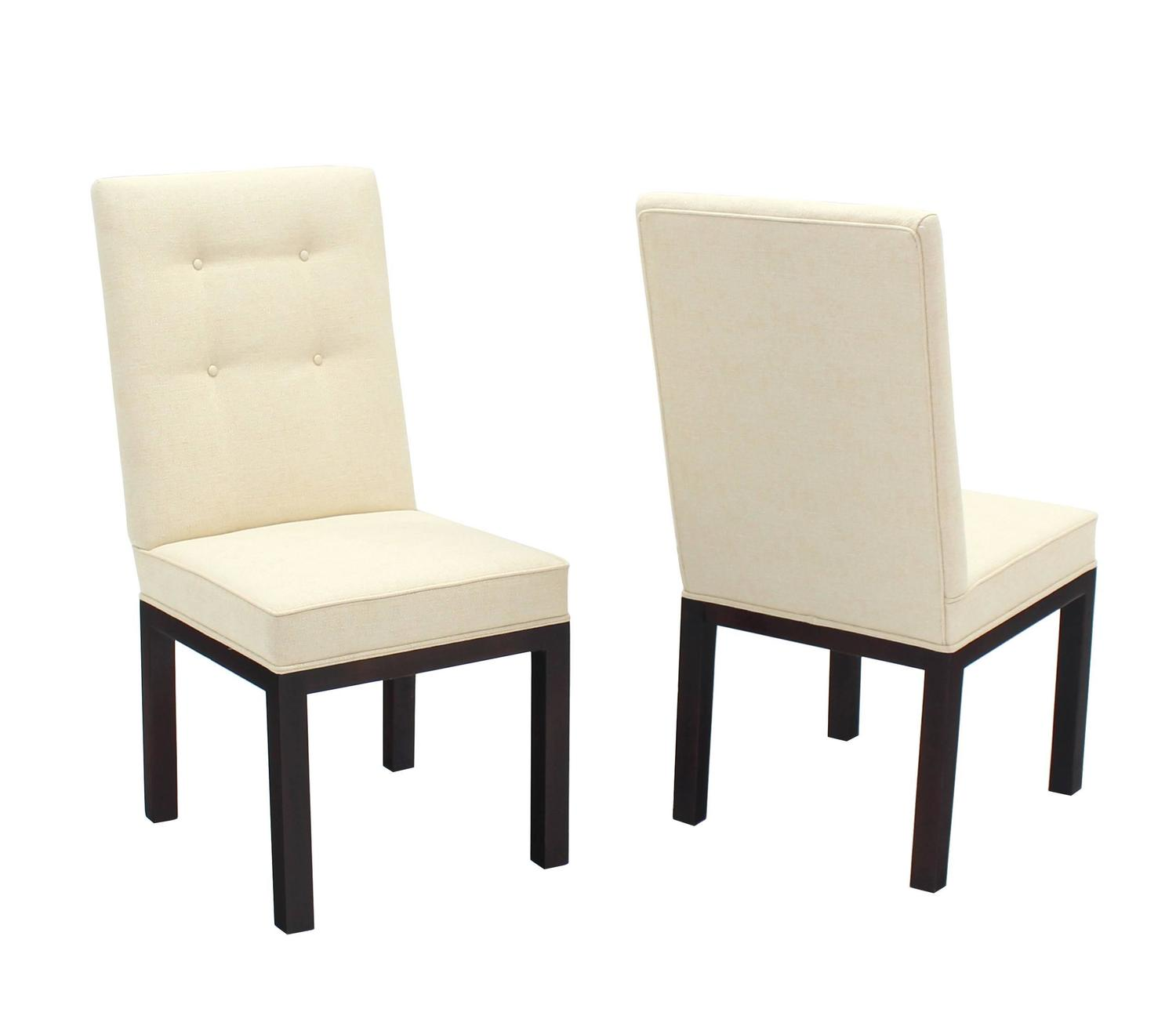 Set of eight newly upholstered dining chairs by john for Upholstered dining chairs for sale