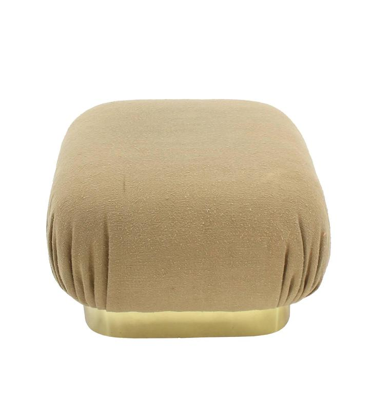 Set Of Three Mid Century Modern Poufs At 1stdibs