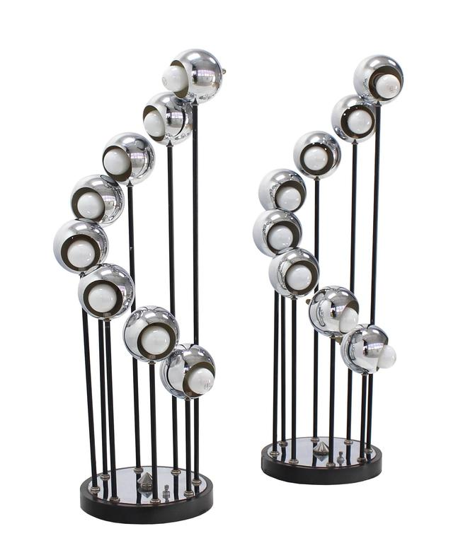 Mid Century Modern Chrome Globe Table Lamps For Sale At