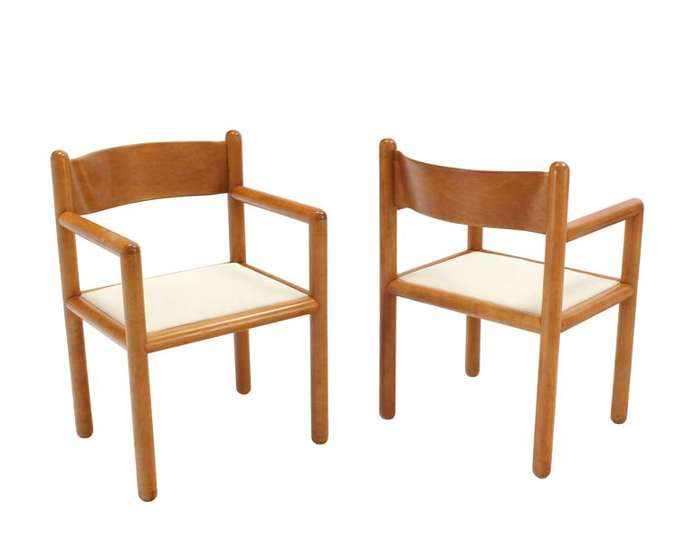 Mid-Century Modern Set of Six Mid Century Modern Chairs with Sculpted Plywood Back For Sale