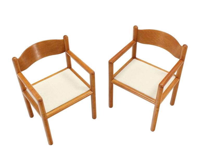 American Set of Six Mid Century Modern Chairs with Sculpted Plywood Back For Sale