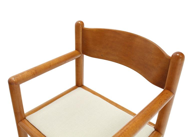 20th Century Set of Six Mid Century Modern Chairs with Sculpted Plywood Back For Sale