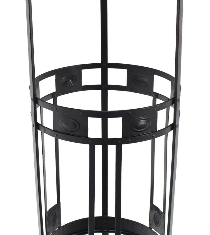 Mid-Century Modern Wrought Iron Coat Rack Umbrella Stand For Sale