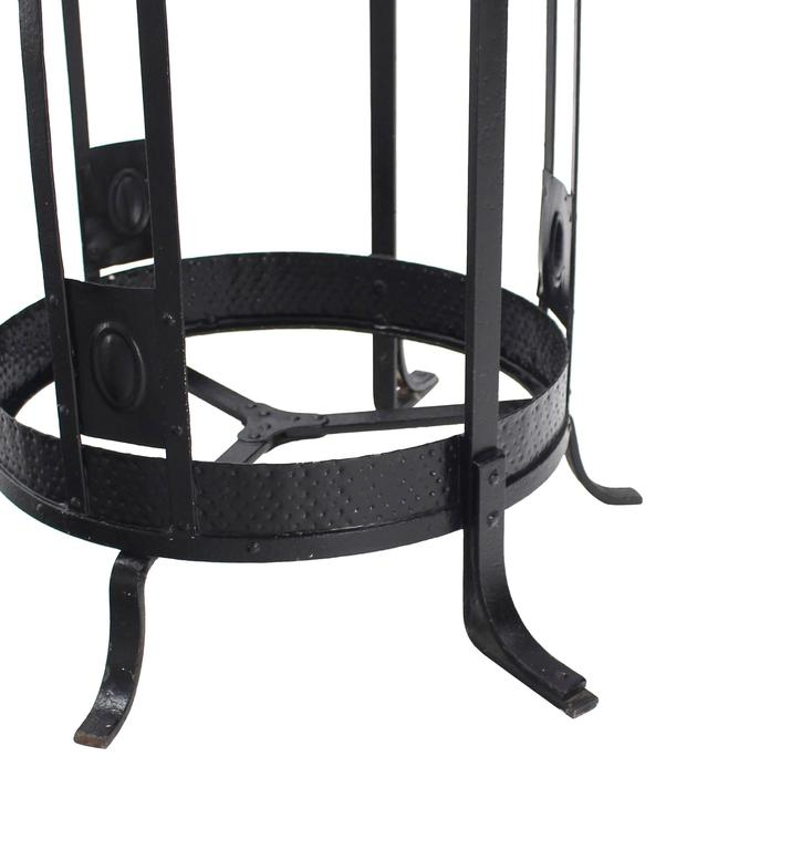 Wrought Iron Coat Rack Umbrella Stand In Good Condition For Sale In Blairstown, NJ
