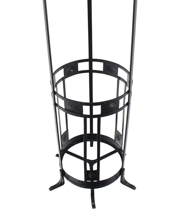 Wrought Iron Coat Rack Umbrella Stand For Sale 2