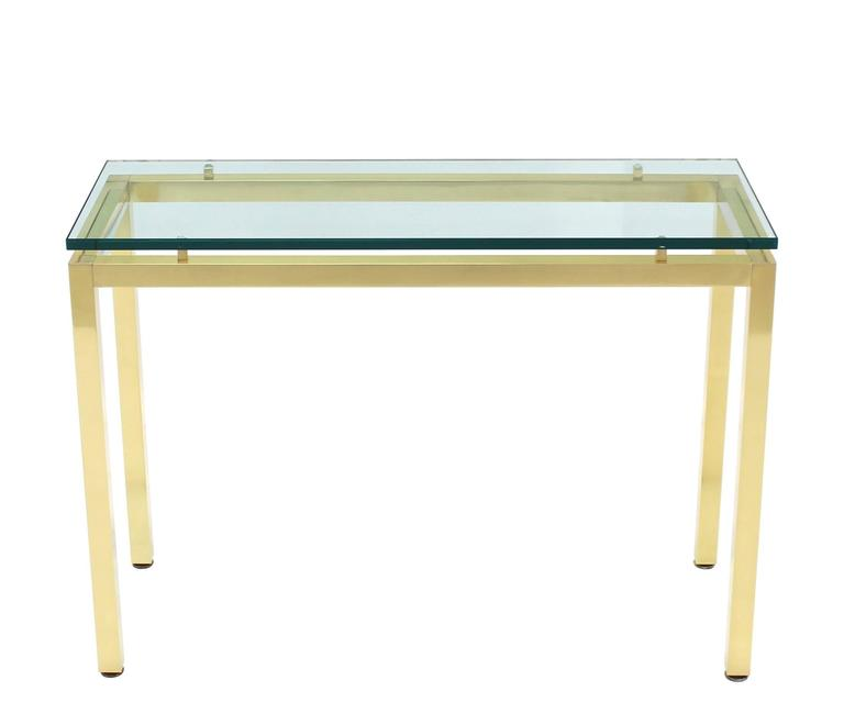 Brass And Glass Console Table For Sale At 1stdibs