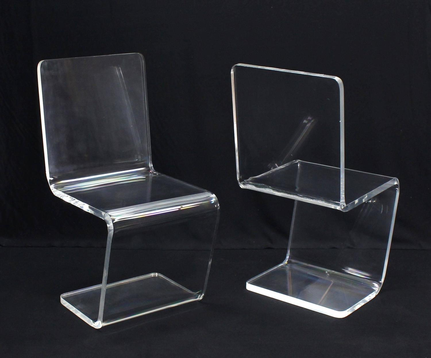 Set Of Four Mid Century Modern Lucite Dining Chairs For Sale At 1stdibs