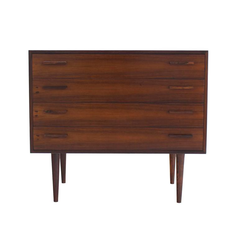Nice Four Drawers Mid-Century Modern Rosewood Bachelor Chest 7