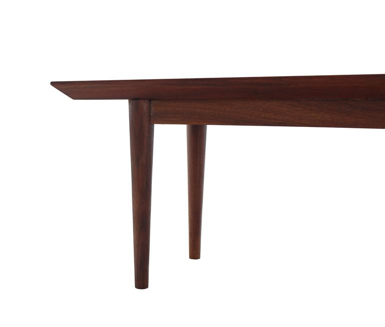 Rare Early Walnut Bench or Coffee Table by Risom For Sale 2