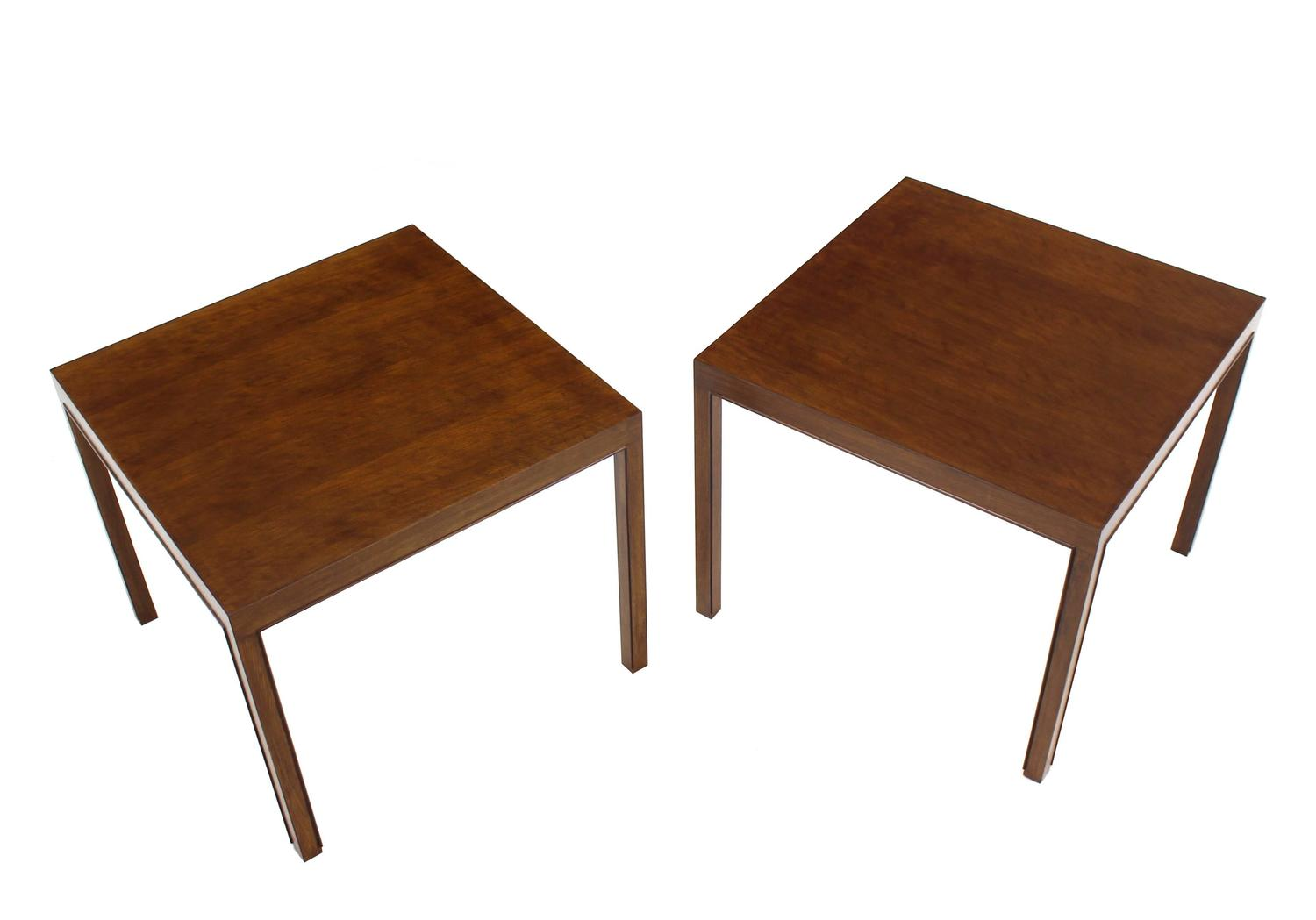 Pair Of Large Square Lamp End Tables By Dunbar For Sale At