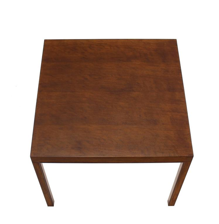 Pair Of Large Square Lamp End Tables By Dunbar For Sale At 1stdibs