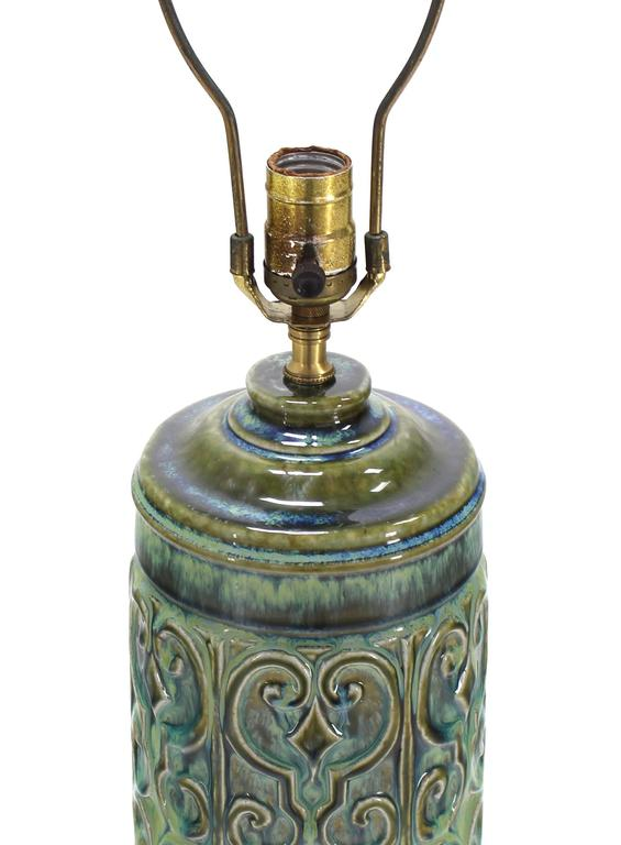 American Art Pottery Table Lamp For Sale