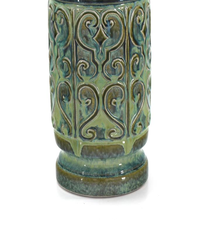 Art Pottery Table Lamp In Excellent Condition For Sale In Rockaway, NJ