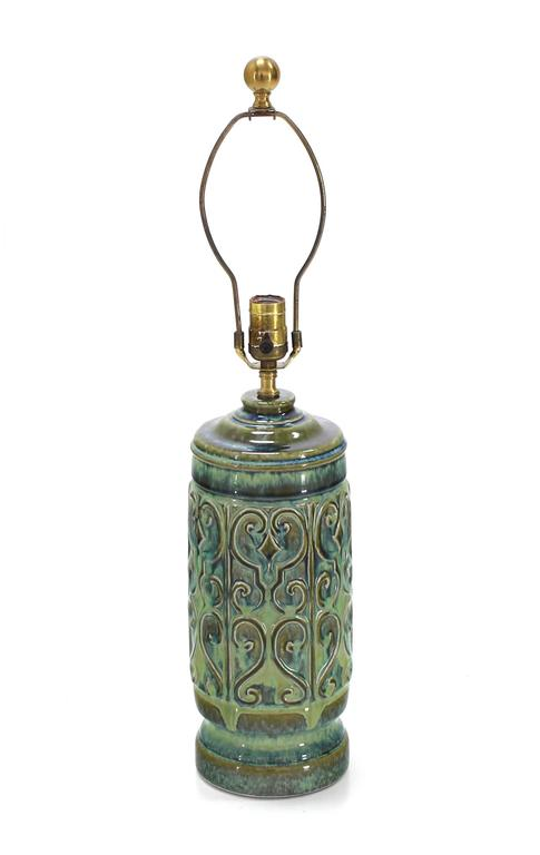 20th Century Art Pottery Table Lamp For Sale