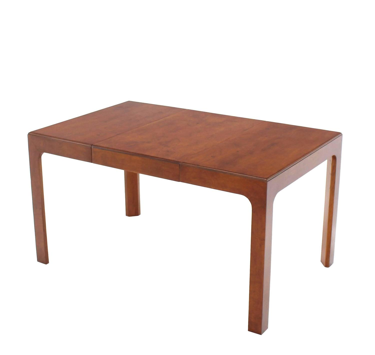 Henredon square dining table with one extension board for for Most beautiful dining room tables