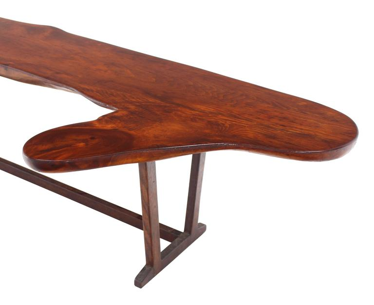 20th Century Organic Solid Top Coffee Table or Bench For Sale