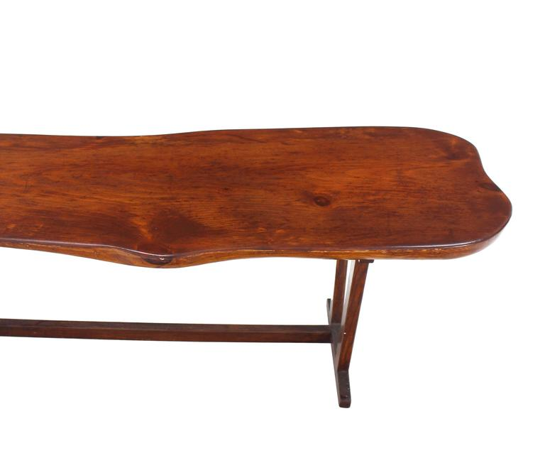 Organic Solid Top Coffee Table or Bench For Sale 1