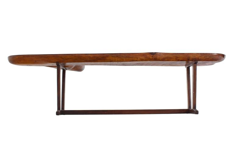 Organic Solid Top Coffee Table or Bench For Sale 3