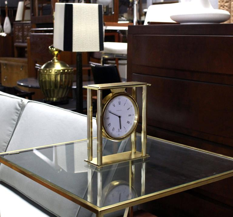 Large Mid Century Modern Tiffany Mantel Clock At 1stdibs