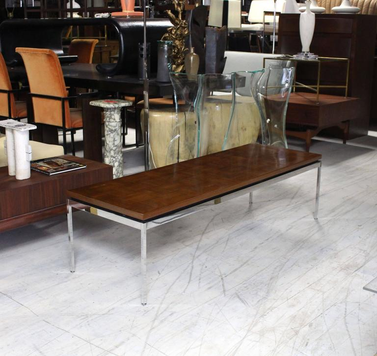 Solid Stainless Steel Coffee Table: Solid Stainless Steel Heavy Base Rectangular Coffee Table