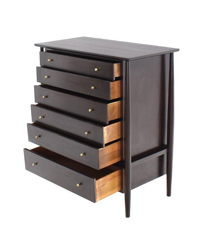 John Stuart Sculptural Chest of Drawers with Solid Brass Pulls For Sale 1