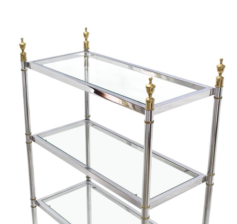 kitchen cabinets nj chrome brass glass mid century modern etagere at 1stdibs 3127