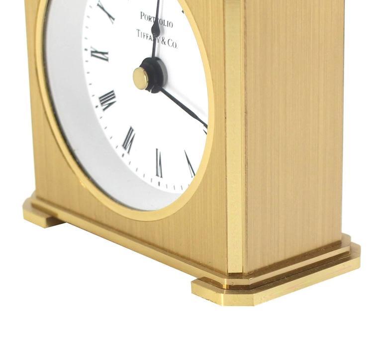Vintage Brass Case Tiffany Desk Clock For Sale At 1stdibs