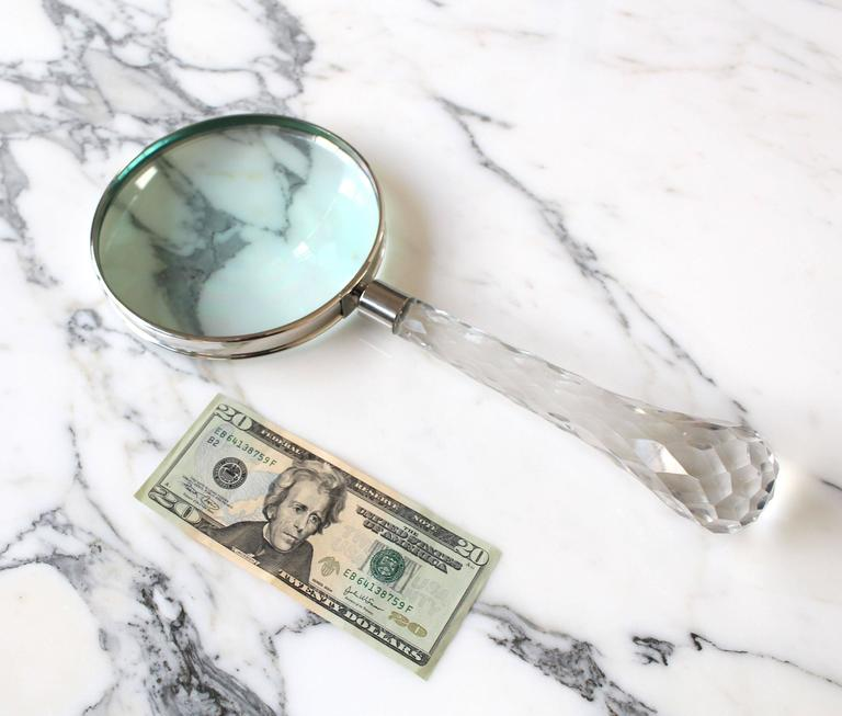 Crystal Handle Magnifying Glass