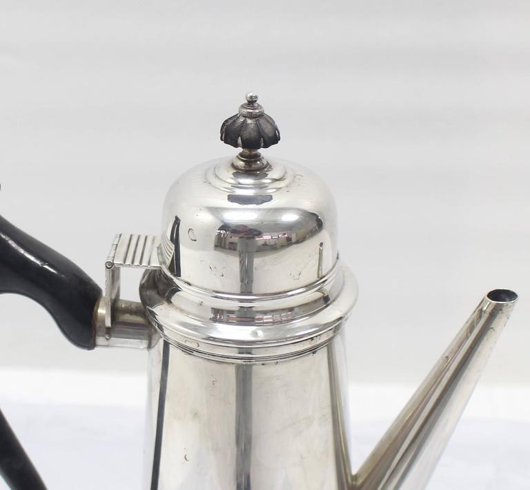 Sterling Silver Tea Coffee Pot Jacob Hurd by Frank Whiting In Excellent Condition For Sale In Elmwood Park, NJ