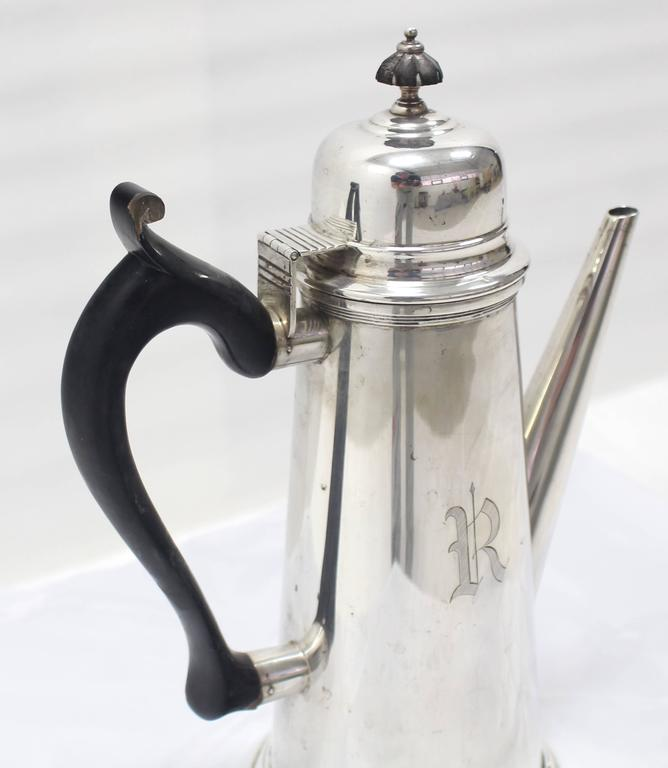 Sterling Silver Tea Coffee Pot Jacob Hurd by Frank Whiting For Sale 1