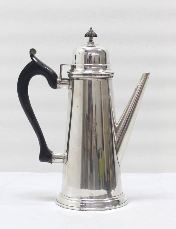 Sterling Silver Tea Coffee Pot Jacob Hurd by Frank Whiting For Sale 2