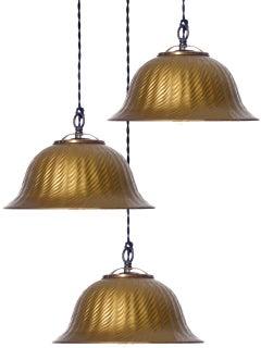 Large X-Ray Mercury Glass Bell Pendants