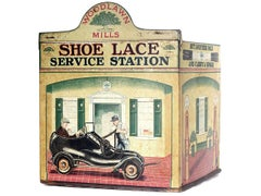 Shoe Lace Service Station - Very Rare Tin Litho Store Display