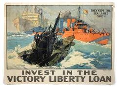 They Kept the Sea Lanes Open, Original 1918 WWI Poster